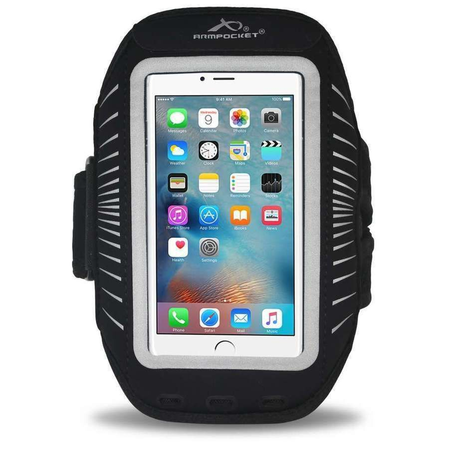 Armpocket Racer Plus Phone Armband Black Wildfire Sports