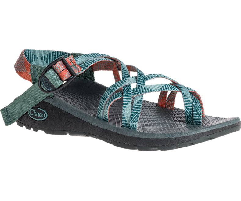 Chaco Z Cloud X2 Womens Sandals Rune Teal Wildfire
