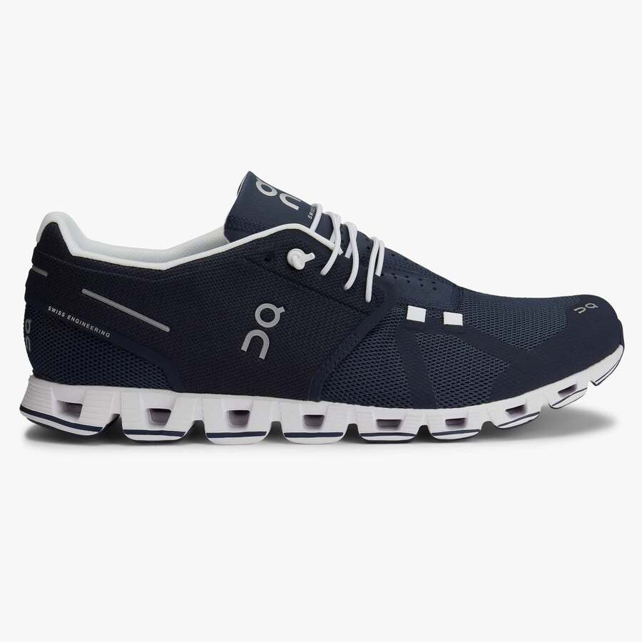 On Cloud Mens Shoes Navy White Wildfire Sports Amp Trek