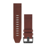 Garmin QuickFit 22 Leather Replacement Watch Band Brown
