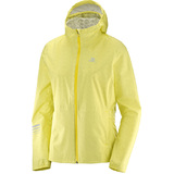 Salomon Lightning Waterproof Womens Jacket Enamel Blue