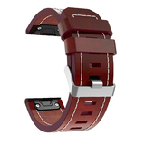 Wildfire Replacement Leather Watch Band for Garmin Fenix 5X Brown