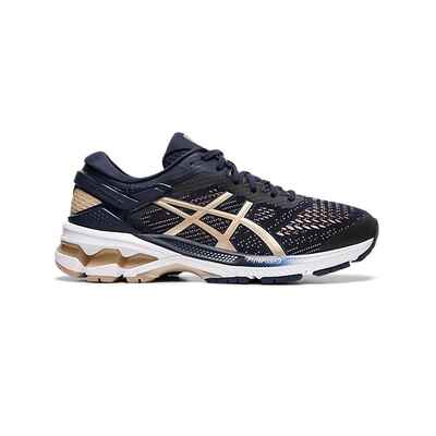 1c85b6f671 Asics GEL-Kayano 26 Womens Shoes Midnight/Frosted Almond