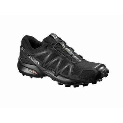 42f3b346eb51 Salomon Speedcross 4 Womens Shoes Black Black Black Metallic ...